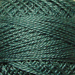 31 - Smokey Teal Perle Cotton Solid Thread