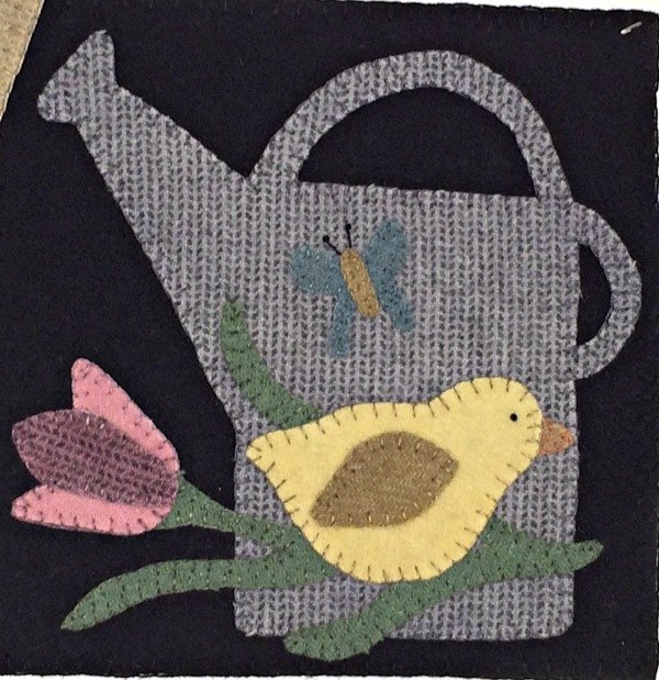April Wool and Needle Handwork block