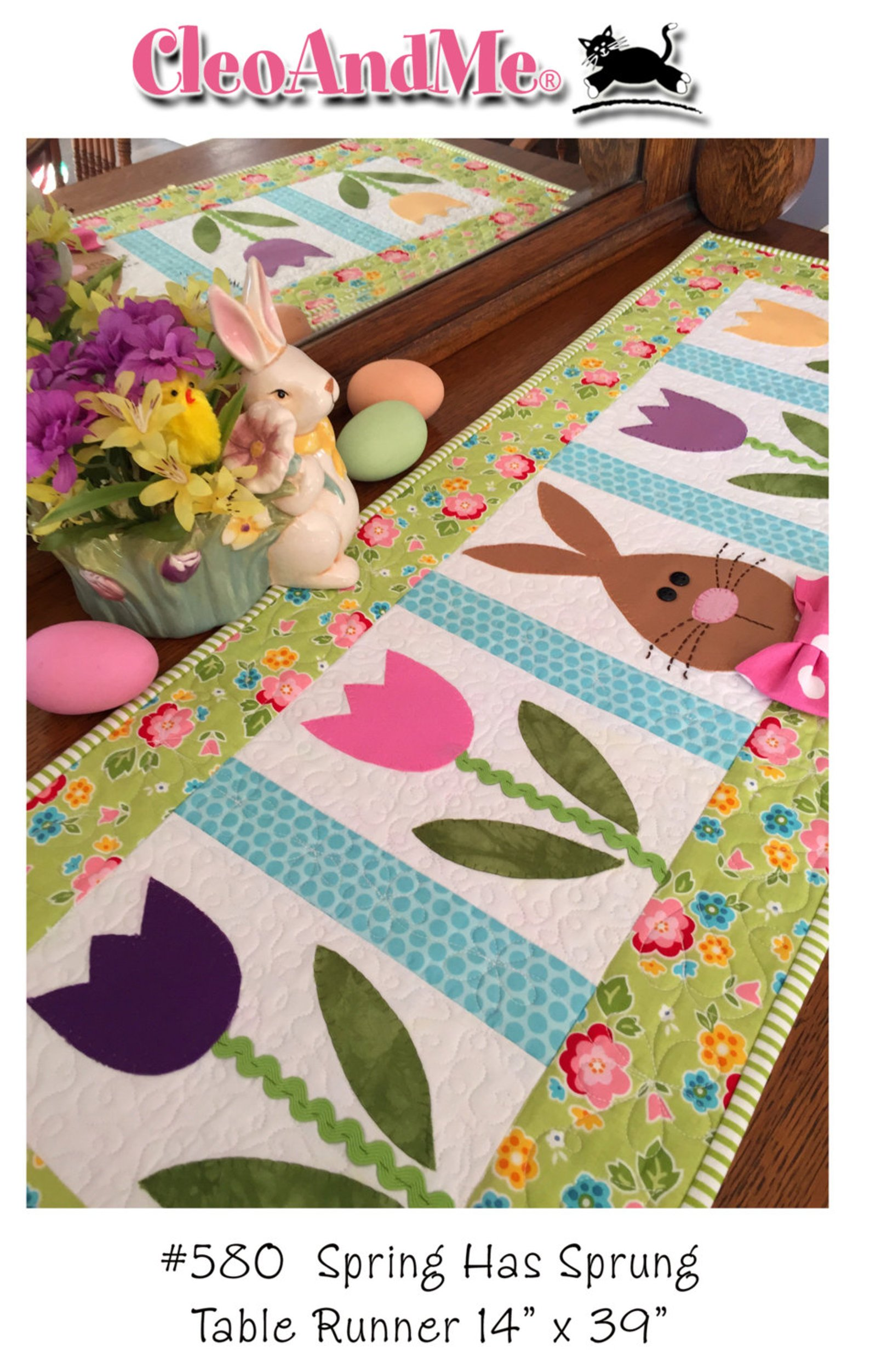 Spring Has Sprung- table runner pattern and Kit by Cleo and Me