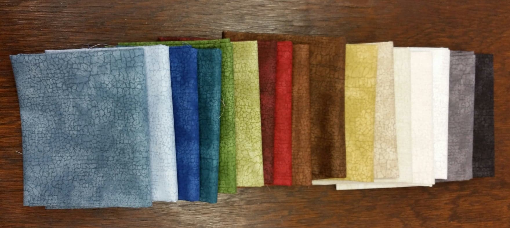 17 Fats- Assorted Crackle Fabric (4 1/4 yards!)