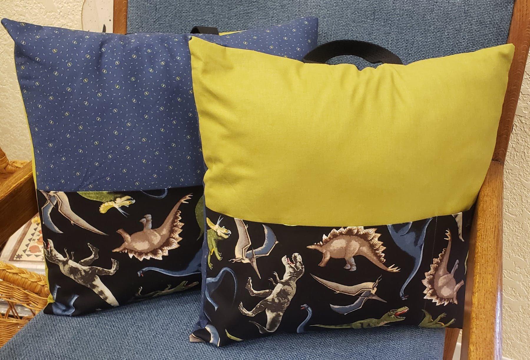Dinosaur with Black Background -Pocket Pillow Kit