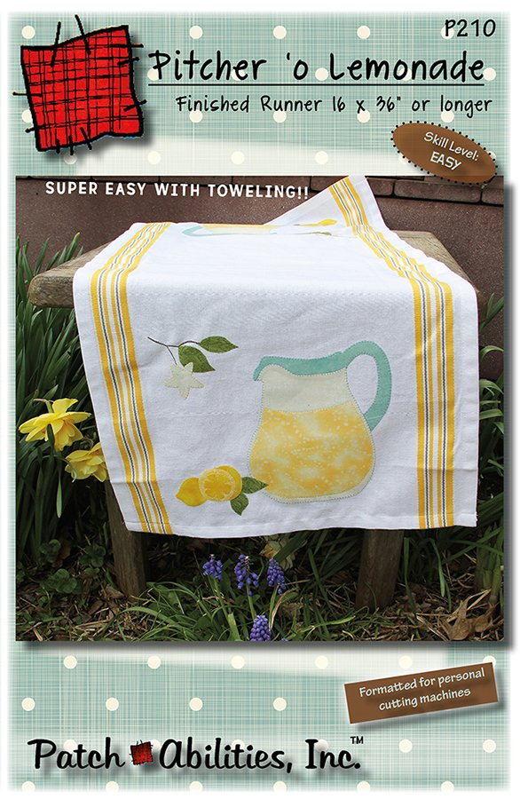 P210 Pitcher 'o Lemonade Toweling Table Runner