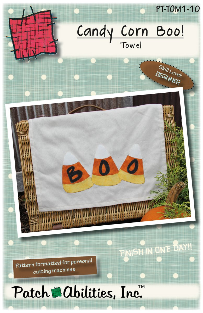 PT-TOM1-10 Candy Corn Boo Towel