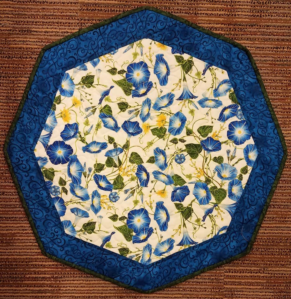 Blue Morning Glory- Fun Focus Table Topper