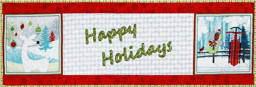 Happy Holidays P158 Reindeer & Sled