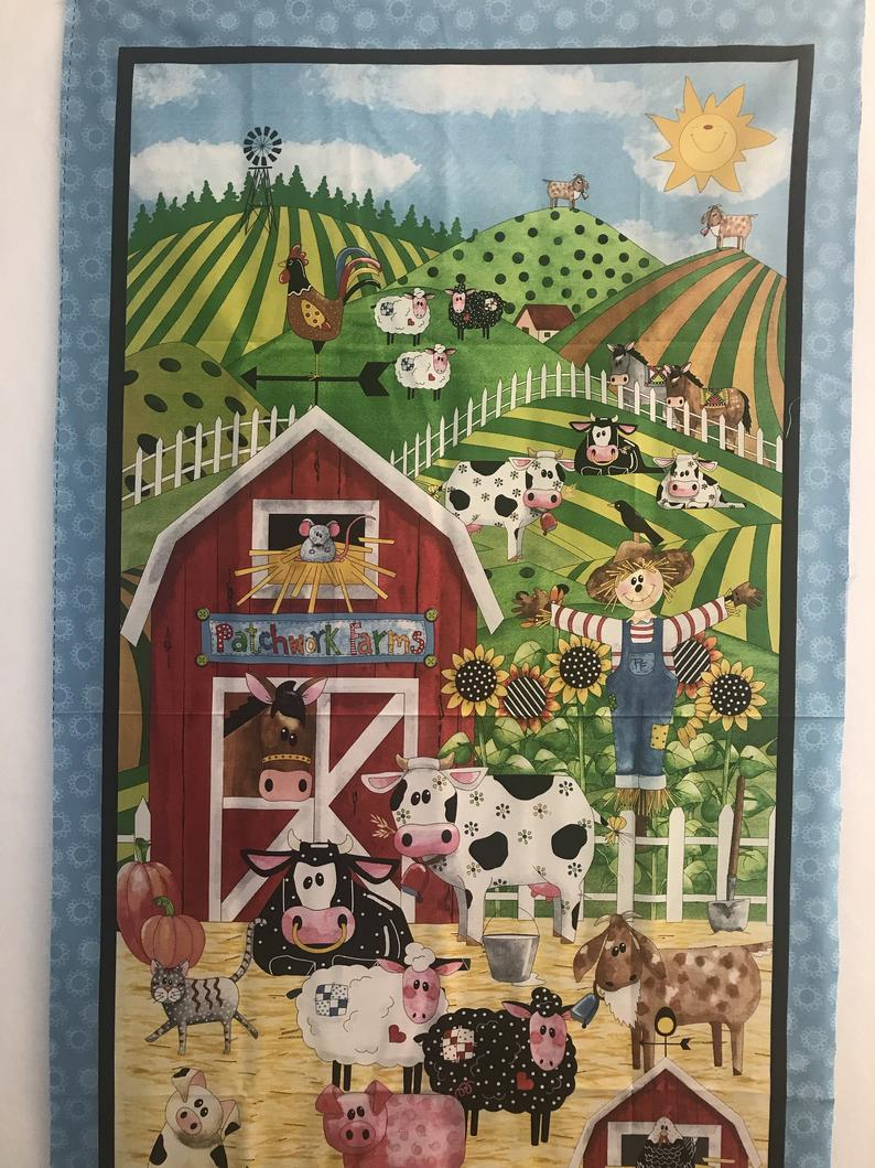 Fabric Panel - Patchwork Farms - Designs by Desiree for Quilting Treasures