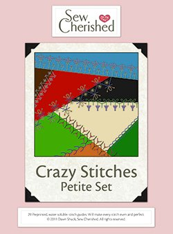 Sew Cherished Crazy Stitches guides - Petite size