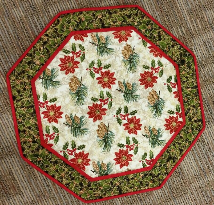 Poinsettia and Pine - Fun Focus Table Topper