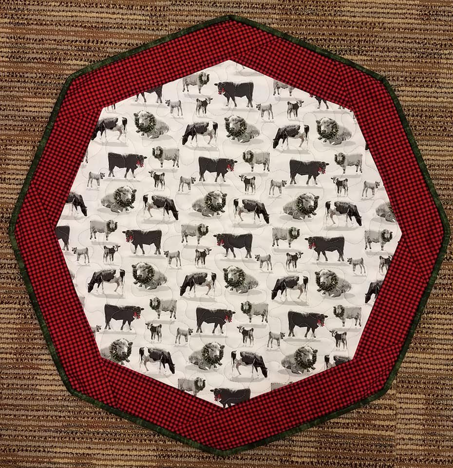 Christmas Cow - Fun Focus Table Topper