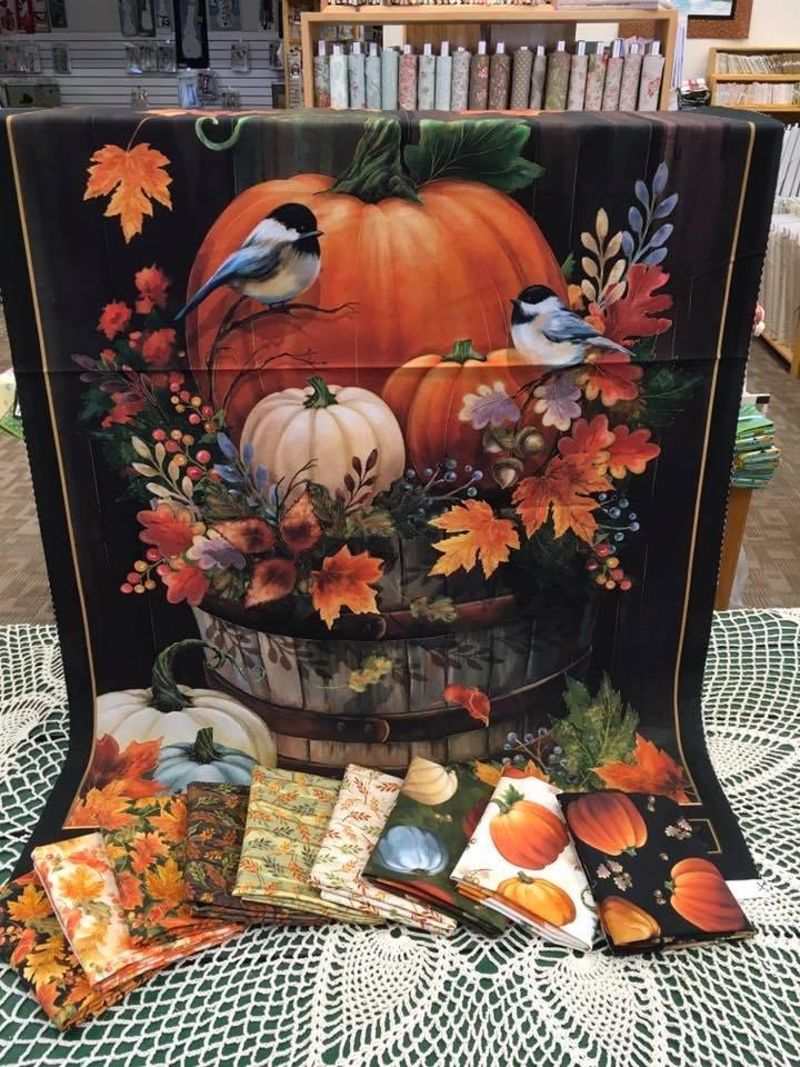 Fall Pumpkin Panel with 9 Coordinating Fats