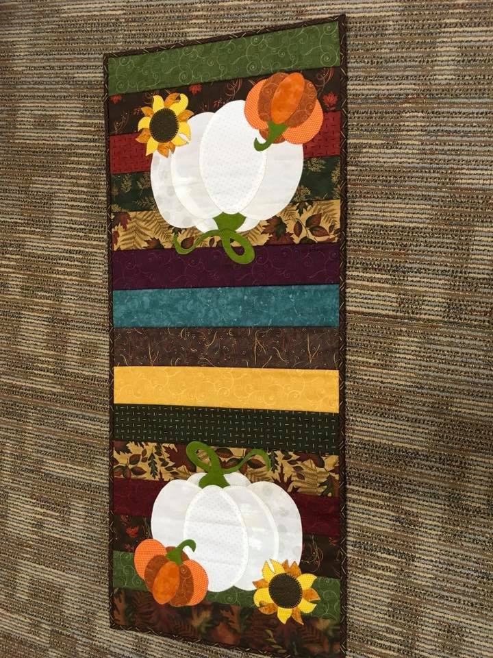 Pumpkin and Sunflower Table Runner