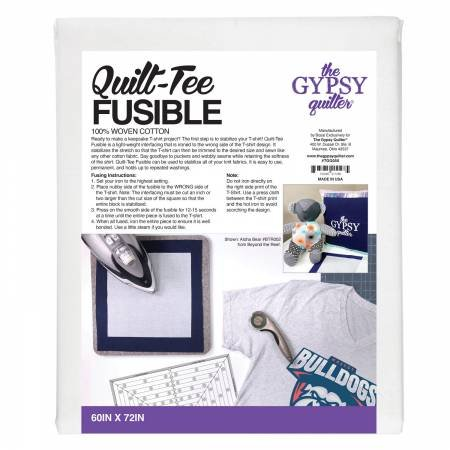 Gypsy Quilter Quilt-Tee Fusible 60in x 72in