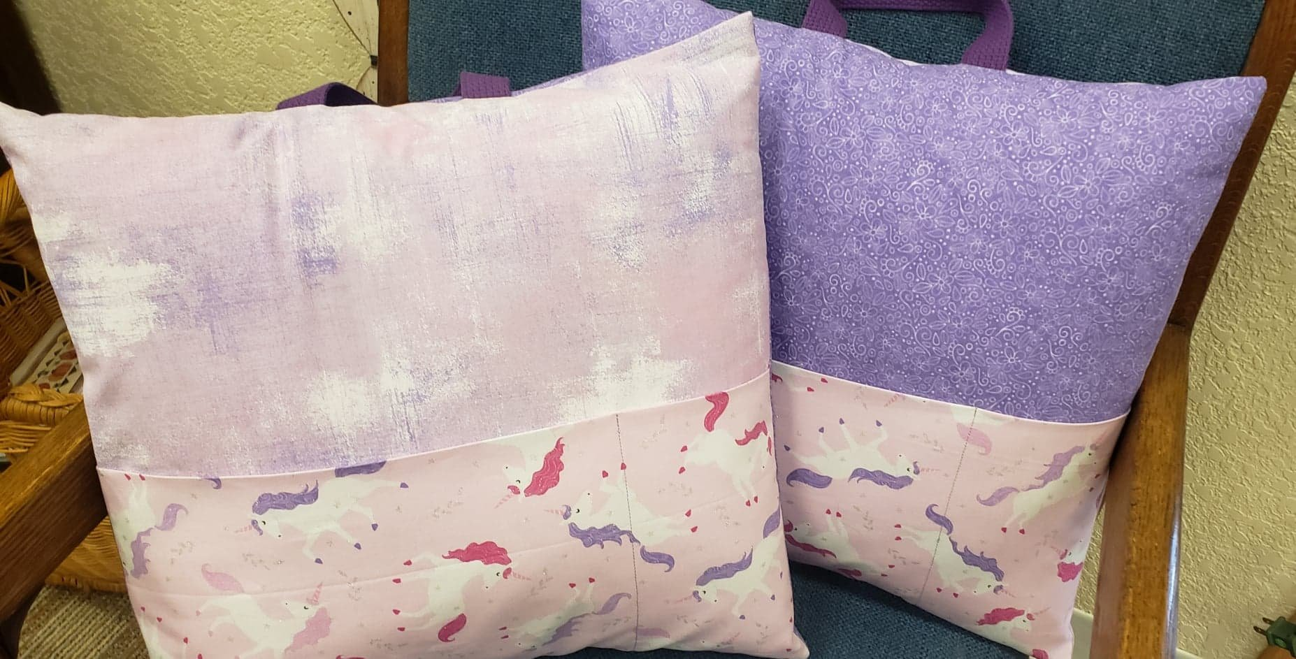 Unicorn Purple & Grunge -Pocket Pillow Kit