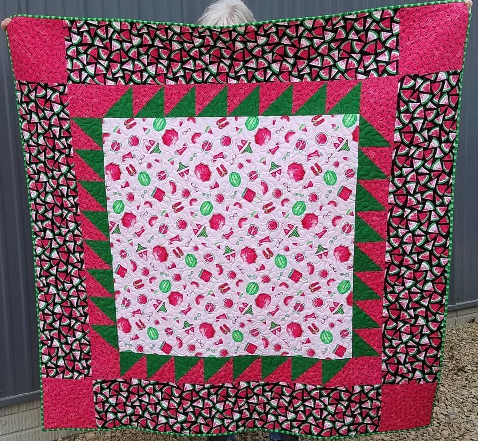 Watermelon Picnic Time Quilt Kit