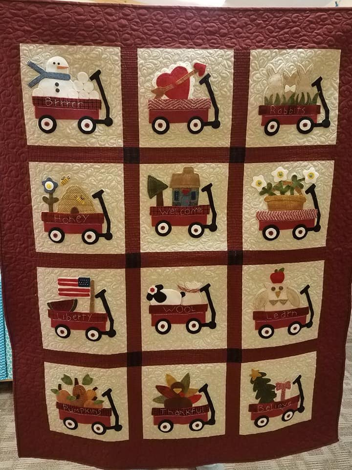 Little Red Wagon Block of the Month