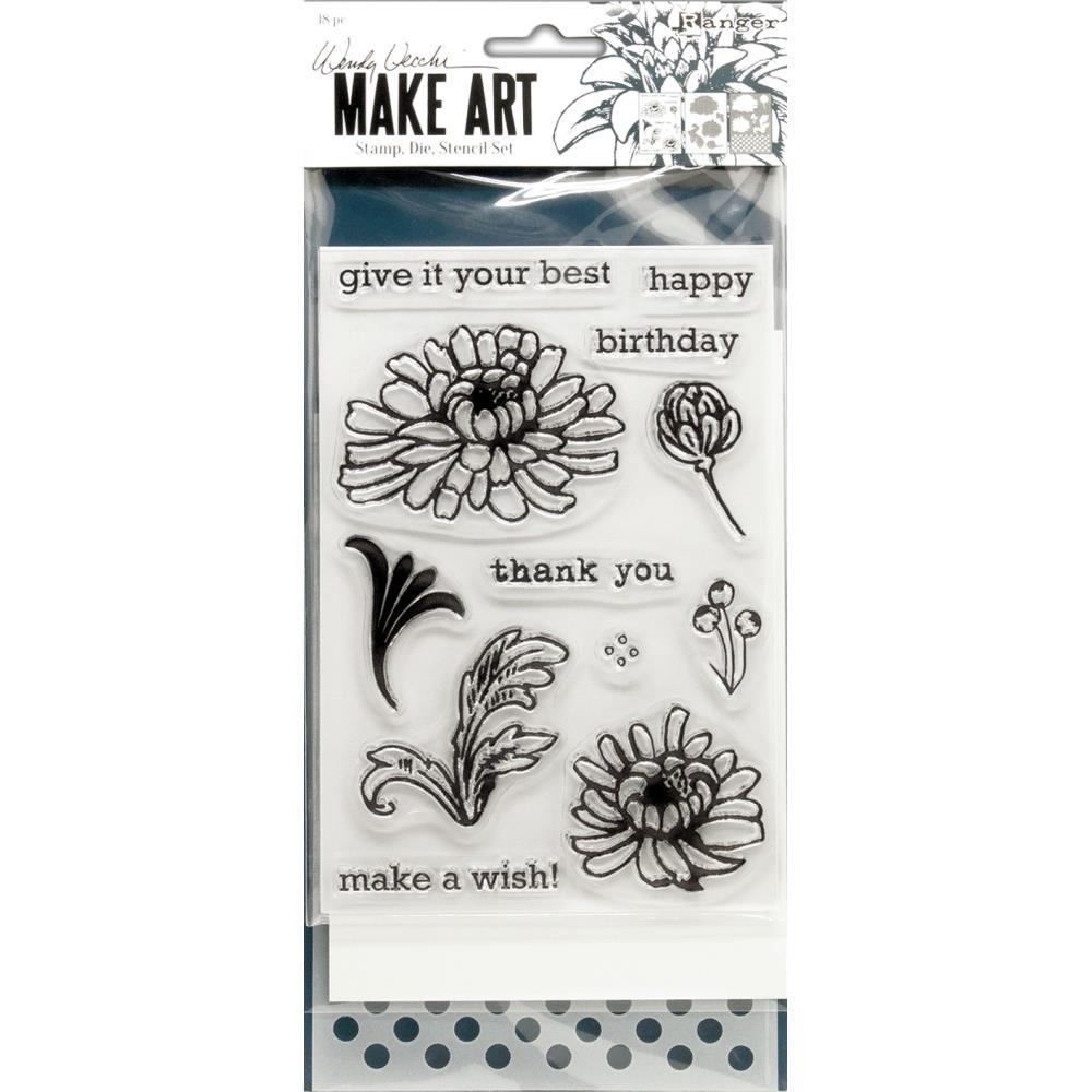 Wendy Vecchi Make Art Stamp, Die & Stencil Set-Thank You
