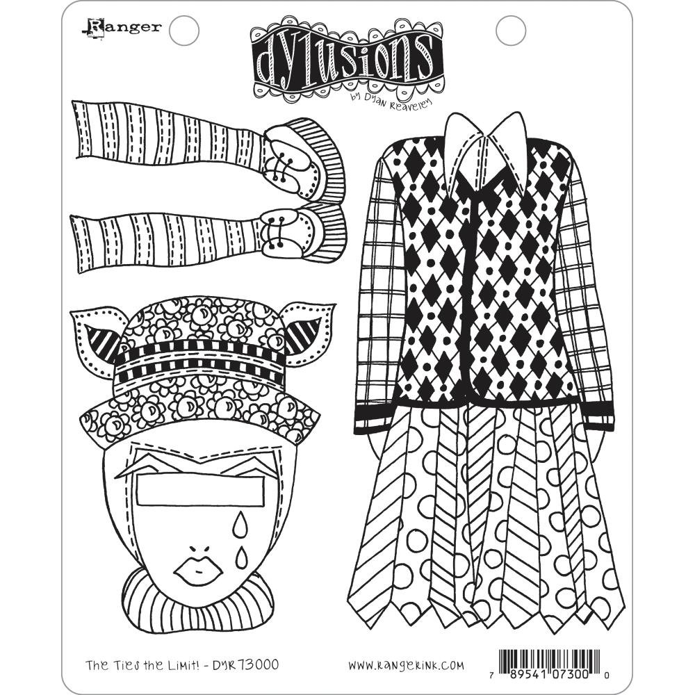 Dyan Reaveley's Dylusions Cling Stamp Collections 8.5X7 The Ties The Limit!