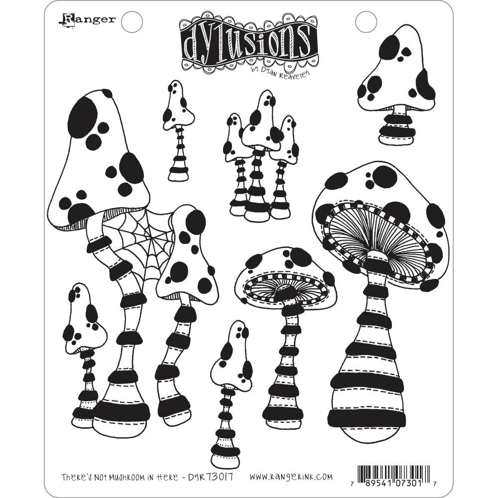 Dyan Reaveley's Dylusions Cling Stamp Collections 8.5X7 There's No Mushroom In Here!