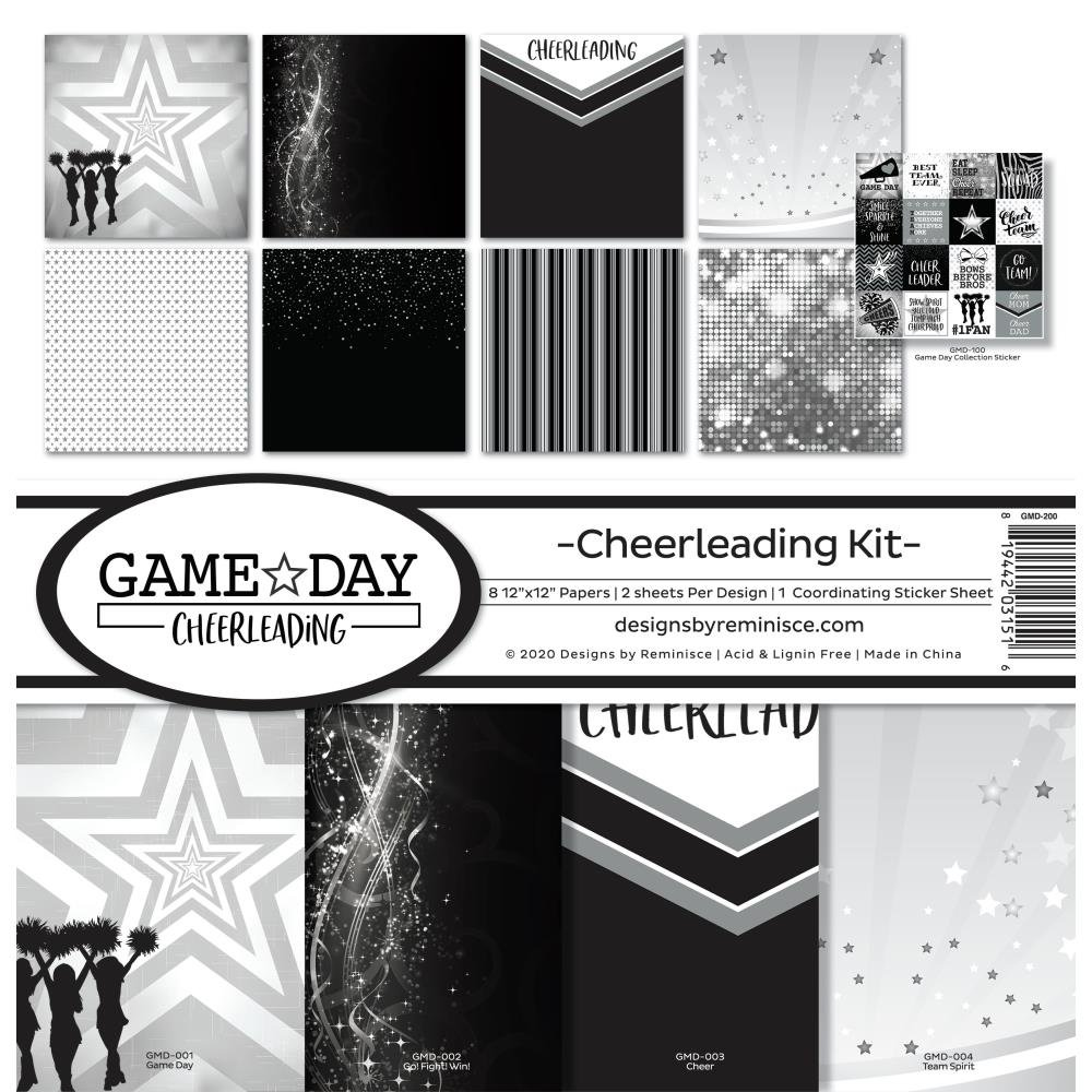 Reminisce Collection Kit 12X12-Game Day: Cheerleading