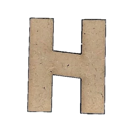 Foundations Decor: Wood Letters H