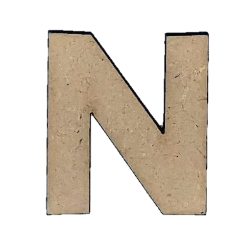 Foundations Decor: Wood Letters N