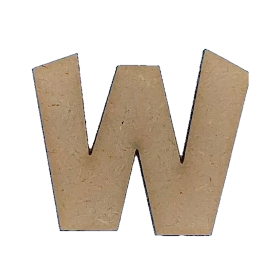 Foundations Decor: Wood Letters W