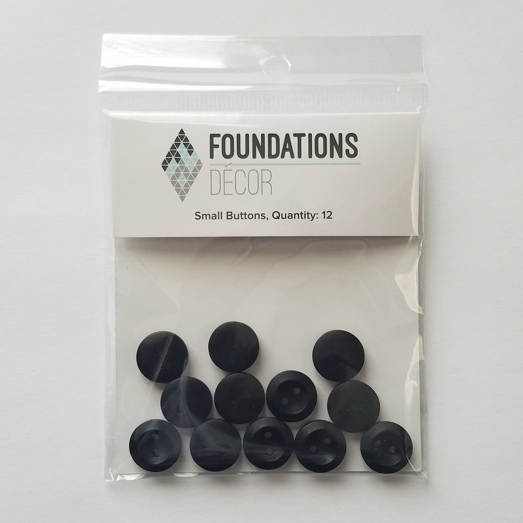 FOUNDATIONS: Buttons - Black, 12 Small