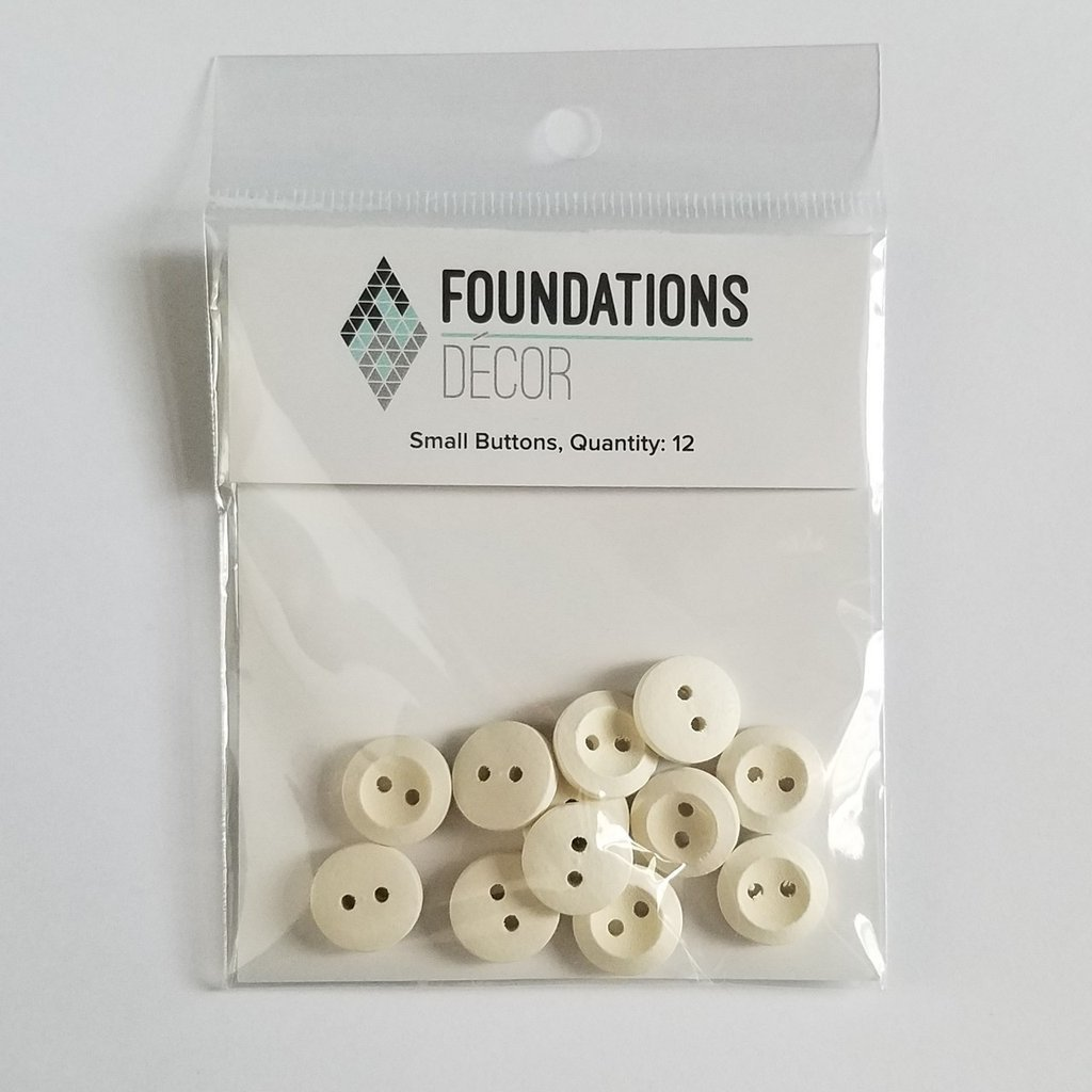 FOUNDATIONS: Buttons - Off White, 12 Small