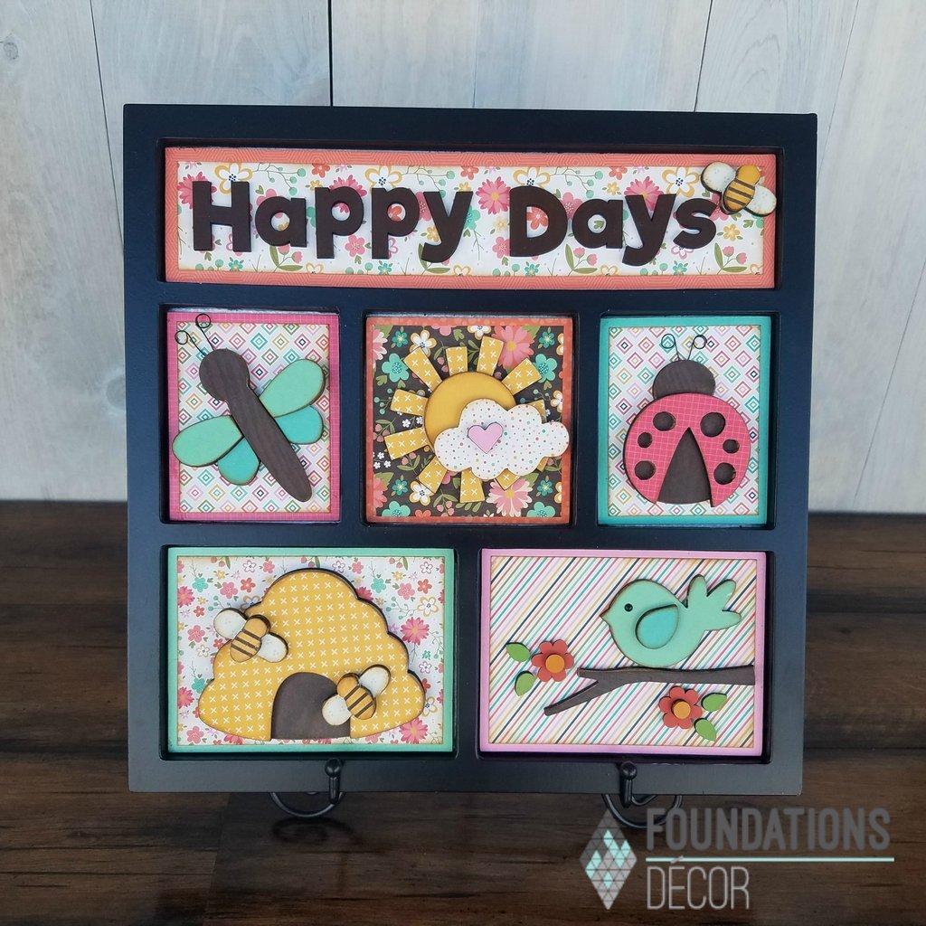 FOUNDATIONS: Happy Days Shadow Box Kit
