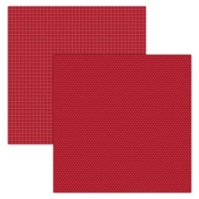 Foundations Decor Paper - Plaid/Dots - Red