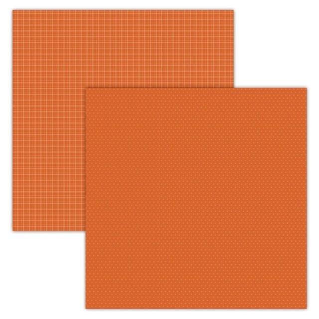 Foundations Decor Paper - Plaid/Dots - Orange