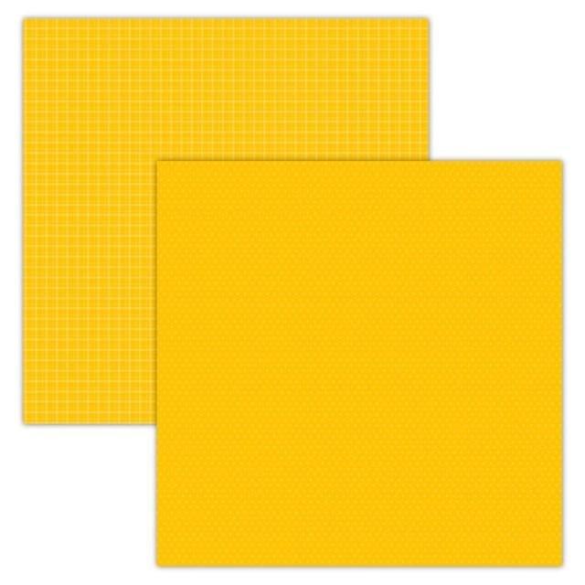 Foundations Decor Paper - Plaid/Dots - Yellow