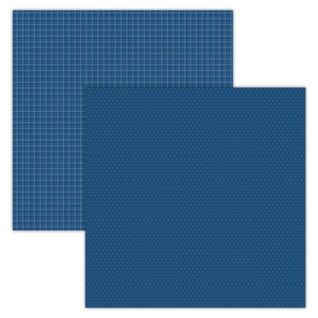 Foundations Decor Paper - Plaid/Dots - Blue