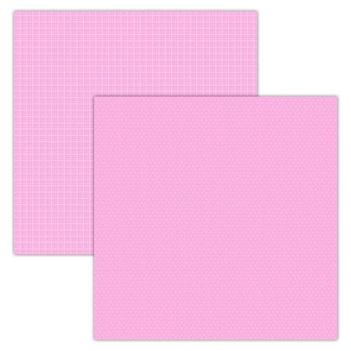 Foundations Decor Paper - Plaid/Dots - Pink