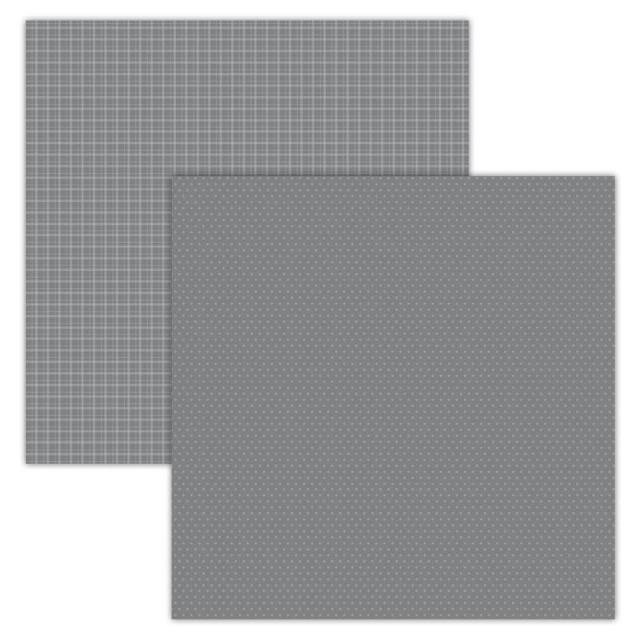 Foundations Decor Paper - Plaid/Dots - Grays