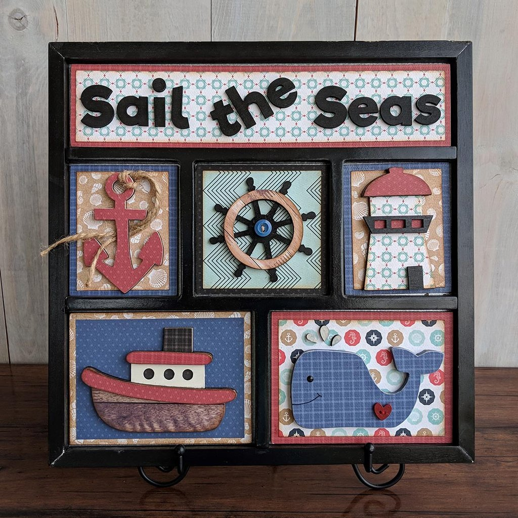 Foundations Decor Shadow Box Kit Sail The Seas