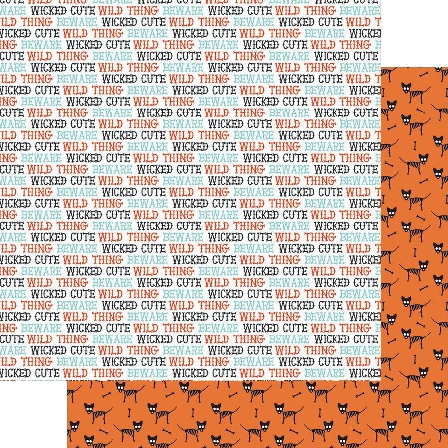 FD Fancy Pants Howl Double-Sided Paper 12x12  - Wicked Cute