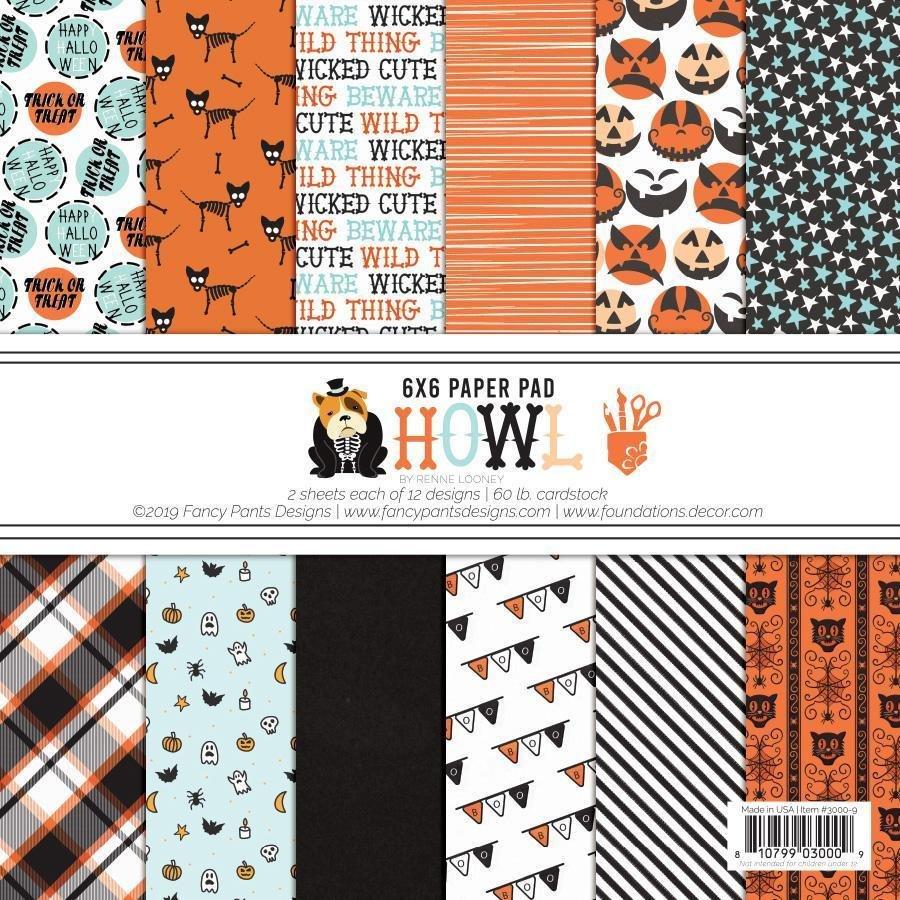 FD Fancy Pants Howl Paper Pad 6x6