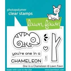 Lawn Fawn Clear Stamps 3X2 One In A Chameleon