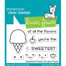 Lawn Fawn Clear Stamps 3X2 Sweetest Flavor