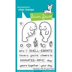 Lawn Fawn Clear Stamps 3X2 Manatee-Rific
