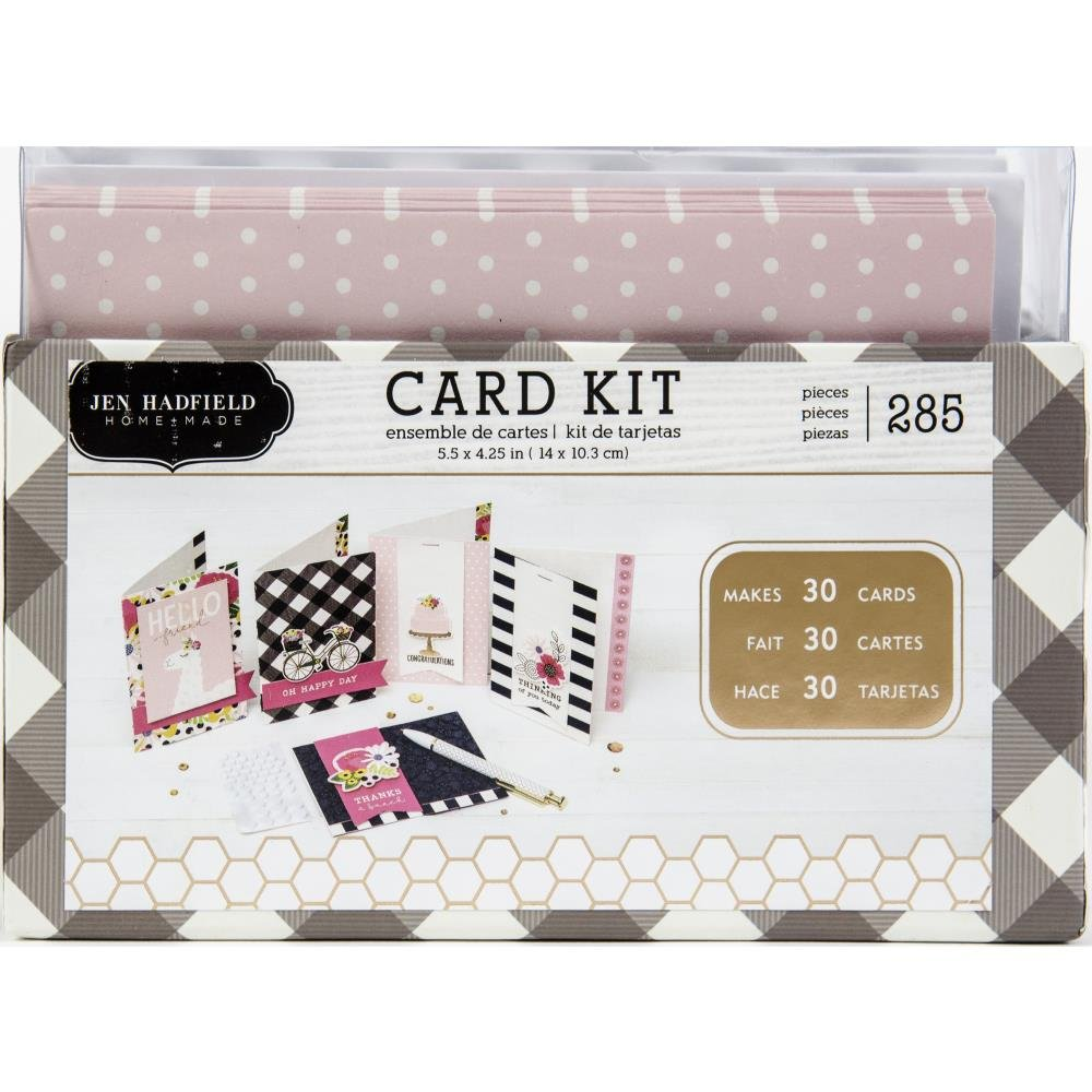 Jen Hadfield My Bright Life Card Kit Makes 30, W/Gold Foil Accents