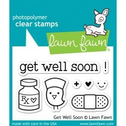 Lawn Fawn Clear Stamps 3X2 Get Well Soon