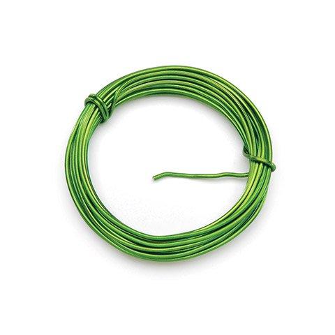 Darice Florist Wire - Aluminum - 12 Gauge - Lime - 5 yards