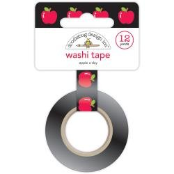 Doodlebug Washi Tape 8mmX12yd Apple A Day, School Days