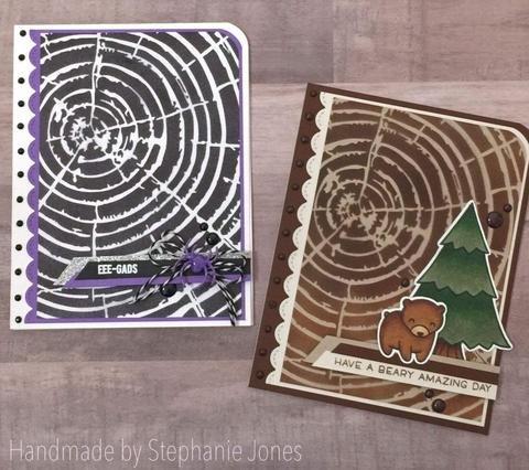 Gina Marie Designs - 6x6 Stencils -  Woodgrain Tree Rings