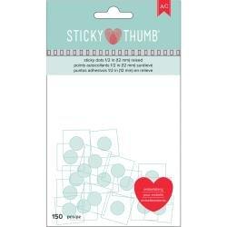 STICKY THUMB Sticky Raised Dots 1/2 150/Pkg