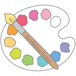 Doodlebug Collectible Enamel Pin Doodlebug Palette