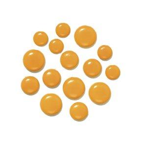 Doodlebug Chunky Brads 1/4 -25/Pkg Tangerine