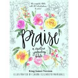 Praise Creative Journaling Bible By Laura Elizabeth Marshall King James Version